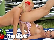Hot horny pin babes lexie and molly get 2gether for some amazing outdoor 50s style bangin in thes hot vids