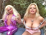 Two busty chicks take a big tit pounding