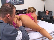 Slutty wife gets fingered and fucked by a thick strange stunt cock