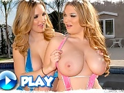 Amazing kassandra and her heavenly melons take on a big cock in these double sucking and threesome pussy pounding movies