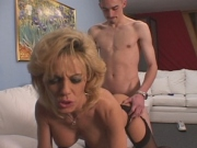 Filthy Milf raunchy pussy fucked in hardcore sex action
